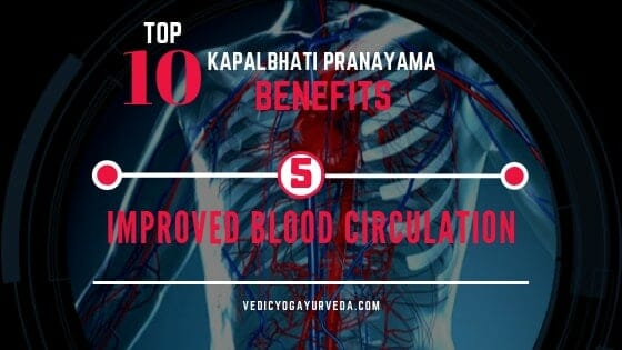 Top 10 Kapalbhati Pranayama Benefits- 5. Improves Blood Circulation